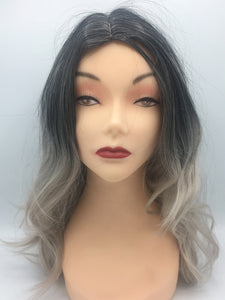 Women's Black to Grey Ombre Wig