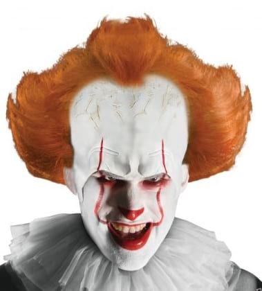 "Adult Pennywise Clown ""IT' Wig with Attached Headpiece"
