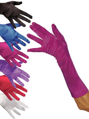 Satin Gloves: Elbow