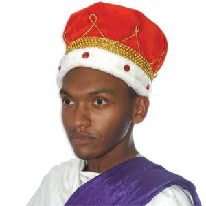 Deluxe King Crown w/Plush Trim