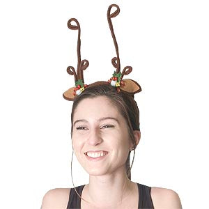 Happy Holiday Reindeer Antlers