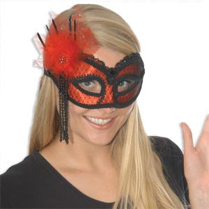 Red and Black Carnival Mask