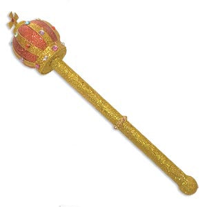 Gold Glitter Jewel Sceptor