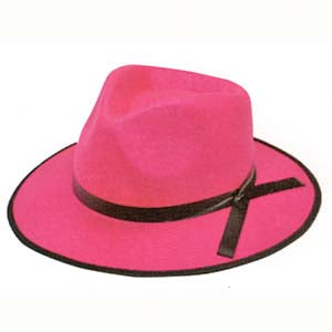 Gangster Hat - Hot Pink *DS*