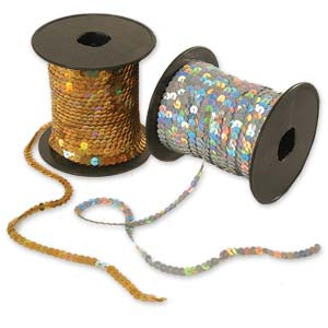 Laser Single Strand Sequin Trim 6mm