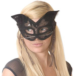 Lace & Velvet Cat Mask