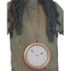 Rapper's Clock Necklace