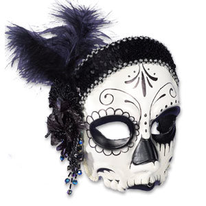 Female Flapper Skull Mask