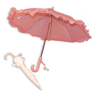 Nylon Ruffle Umbrella