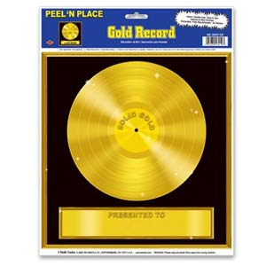 Gold Record Peel-N-Place