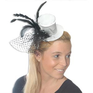 Mini Top Hat w/Feather