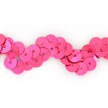 "1/2"" Fluorescent Flat Sequin Wave Trim (Non-Stretch)"