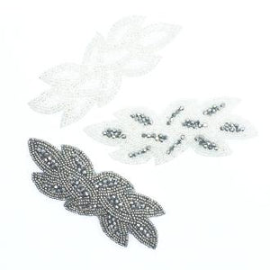 Beaded Leaf Pattern Applique