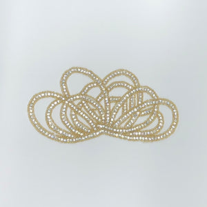 Bead & Rhinestone Loop Applique