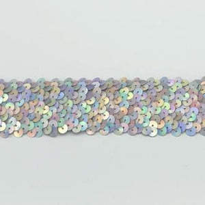 2 Laser Silver Sequin Trim (Stretch)