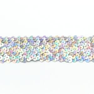 1 Laser Silver Sequin Trim (Stretch)