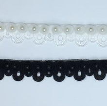 Embroidery Loop with Pearl Trim