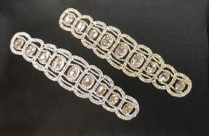 Scallop Edge Rhinestone Applique