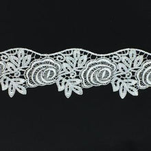 Lace Guipure Scallop Trim with Metallic Thread