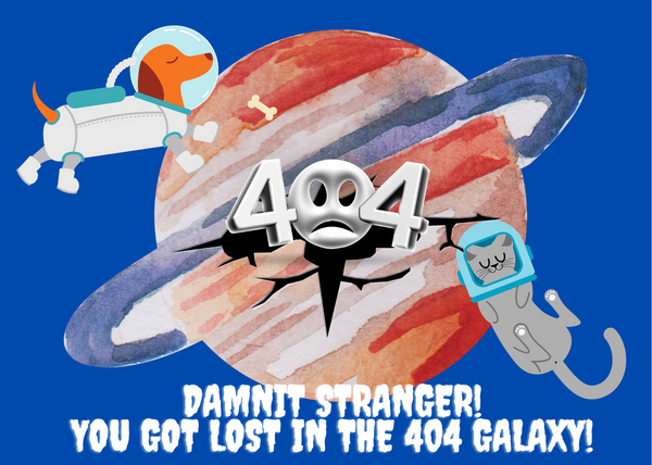 You got lost in the 404 Galaxy