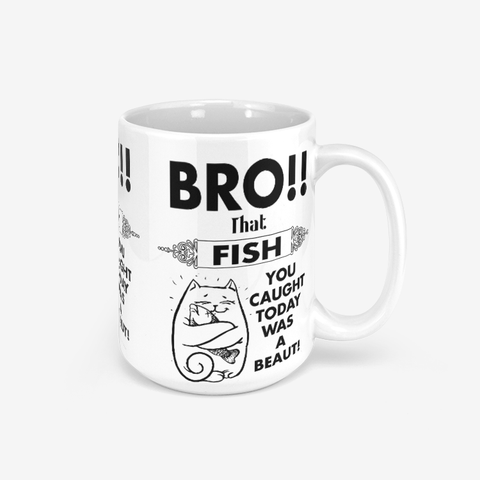 "Classic Glossy Mug with Kiwi Slang ""Bro! That Fish you Caught Today What a Beaut""!"