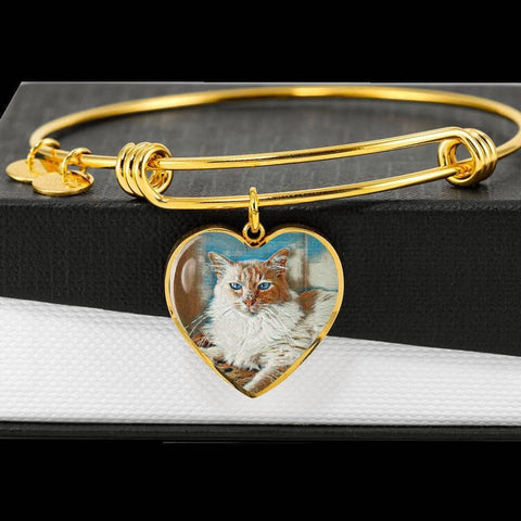Heart - Adjustable Luxury Bangle with Amigo