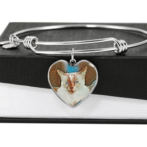 Heart - Adjustable Luxury Bangle with Melissa