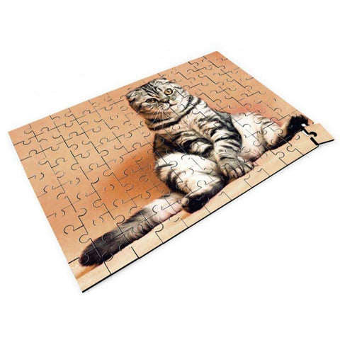 Jigsaw Puzzle with Sitting Cat