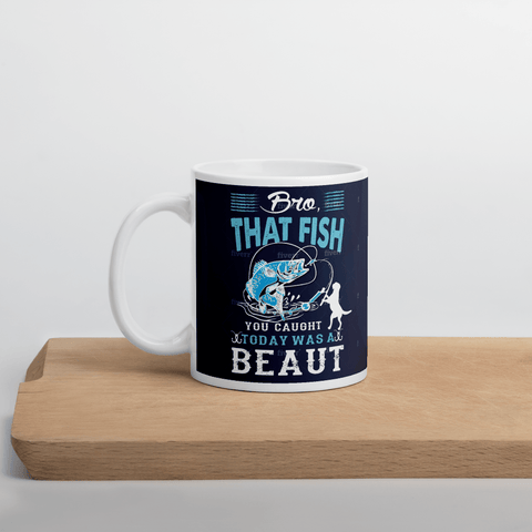 "Mug with Kiwi Slang "" Bro, That Fish You Caught Today Wa A Beaut!""  - PawsFamilyLtd"