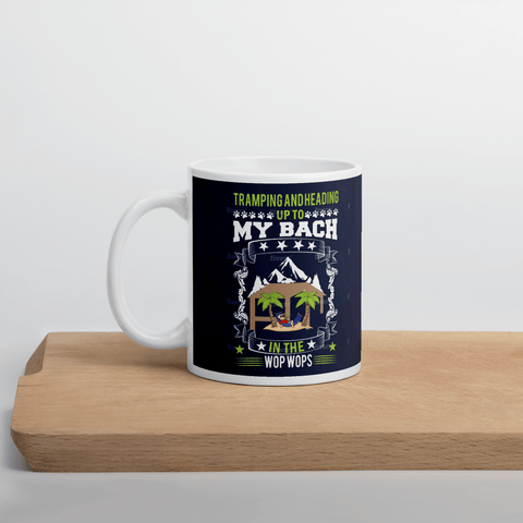 "Mug with Kiwi Slang "" Tramping and Heading Up To My Bach In The Wop Wops!"""" - PawsFamilyLtd"