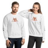 "PawsFamilyLtd - Unisex Sweatshirt with Dog and Cat and Kiwi Slang ""What a crack up when he is spining a yarn!"""