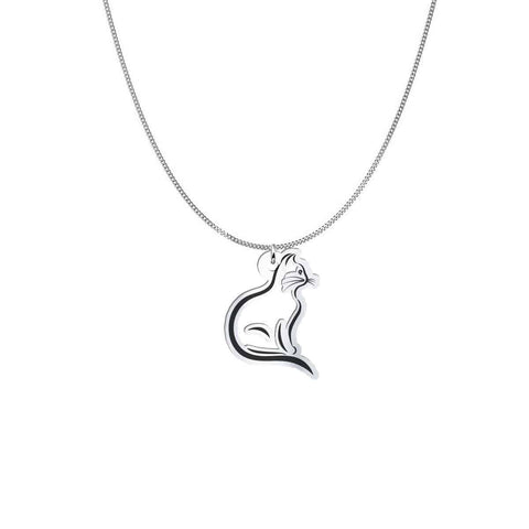 Pendant and Chain  - Cat Your Best Buddy