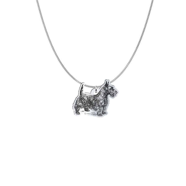 Pendant with Chain representing a Fox Terrier