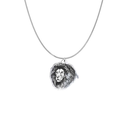 Pendant with Chain representing a Lion Head