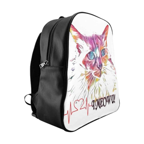 School Backpack - I Meow U - Melissa's Collection