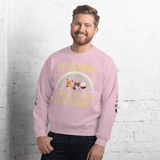 "PawsFamilyLtd - Unisex Sweatshirt with Dog and Cat and Kiwi Slang ""Let's have a piss-up with these stubbies!"" - PawsFamily"