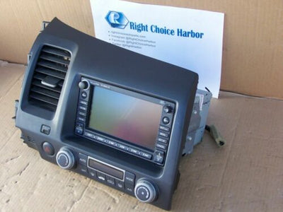 07-09 Honda Civic Navigation GPS Radio climate control system 39541-SNA-A3101-M1 - rightchoiceautoparts