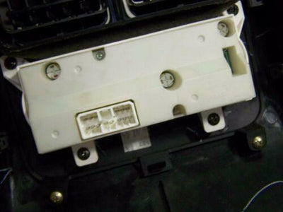 01-06 Acura MDX Rear Center Console A/C Climate Control Bezel EBONY WOOD GRAIN - rightchoiceautoparts