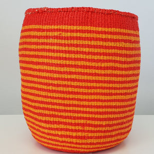 COLOUR YOUR WORLD Kiondo  // Slim Stripe Basket // Made of Natural Sisal + Recycled Plastic