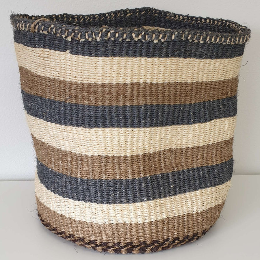 AU NATURALE // Natural sisal // Natural Stripe Basket // Medium