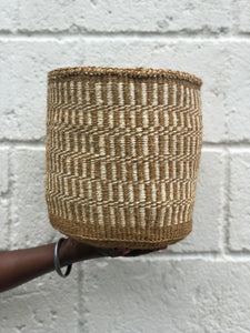 Scribble planter Small // Natural sisal and natural dyes