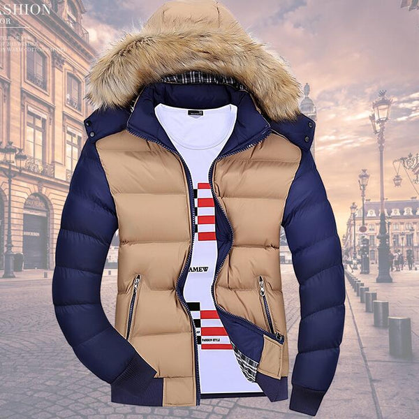 Autumn Winters Warm Leisure Fashion Tide Cotton-padded Jacket For Men's
