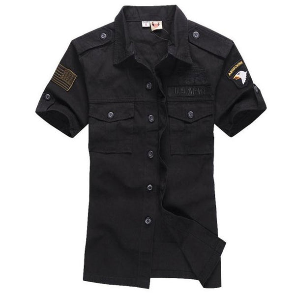 Airforce Uniform Short Sleeve Army Shirts for Men's Dress