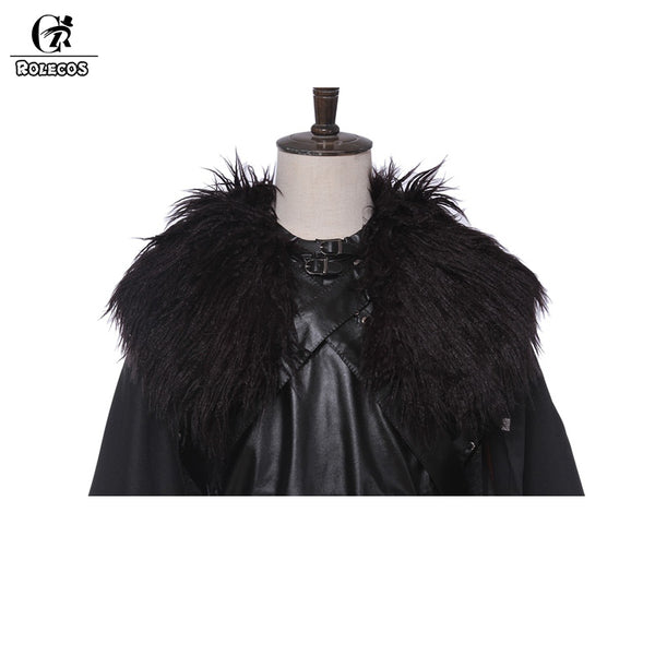Rolecos Brand American TV Series Game of Thrones Cosplay Knight Role Play Jon Snow Costume for Women
