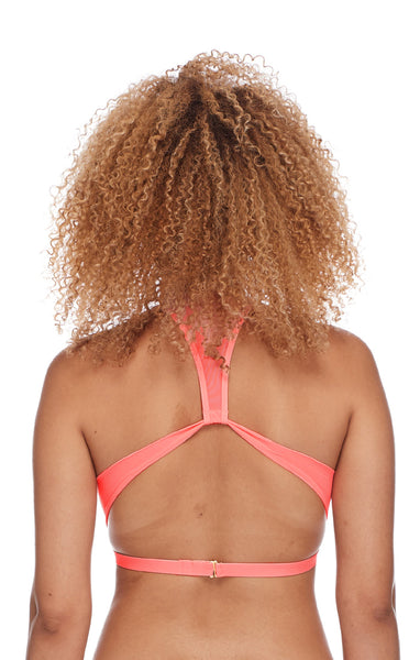 Eidon Swimwear Vita Sporty Mesh Front And Back Bikini Top