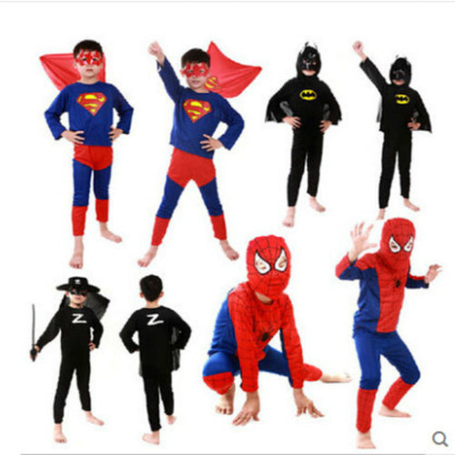 Red Spiderman , Batman , Superman , Halloween & Carnival Costumes for Kids