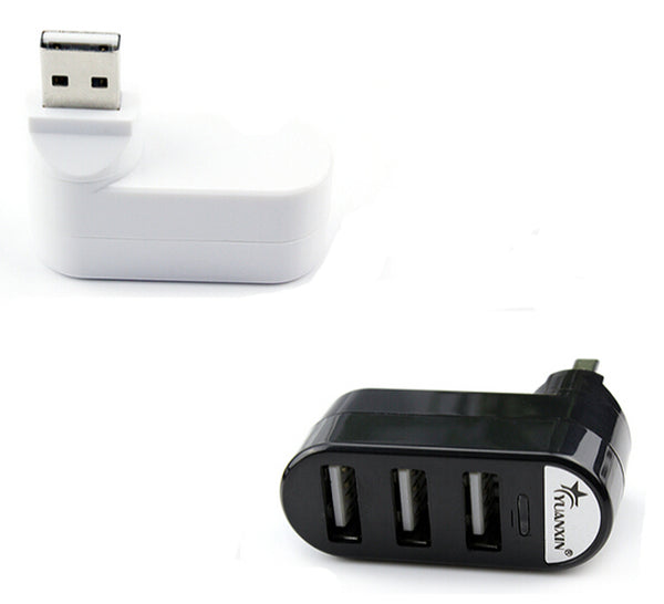 High Speed 3 Ports USB HUB 2.0 Splitter Adapter for Notebook/Tablet Computer PC