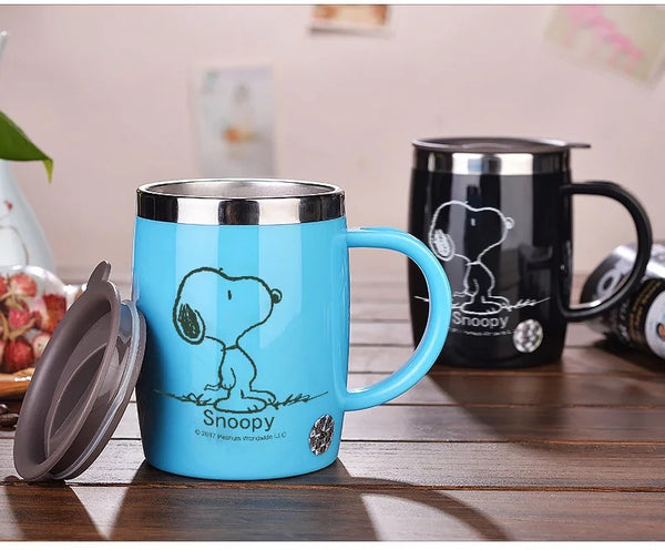 Coffee Teacup Drink Flask Water Tumbler Office and Dining Room With Cover