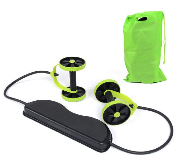 Abdominal Double Wheel Ab Roller With Mat For Exercise Fitness Equipment