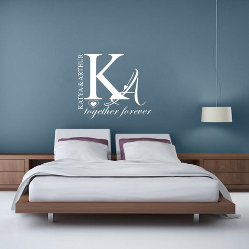 Personalized Couple Name Wall Sticker for Bedroom Decoration